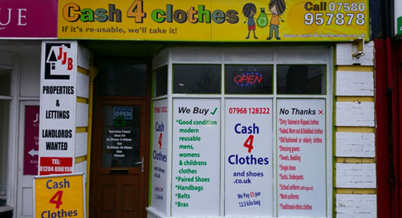 Cash for Clothes Shop in Bolton